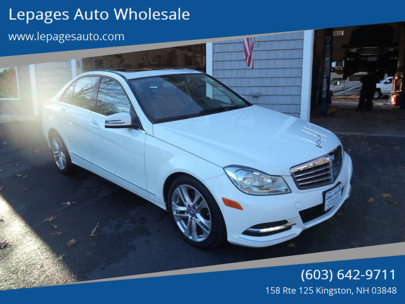 2013 Mercedes-Benz C-Class for sale at Lepages Auto Wholesale in Kingston NH