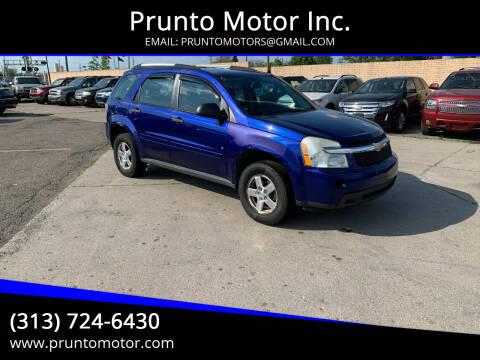 2007 Chevrolet Equinox for sale at Prunto Motor Inc. in Dearborn MI