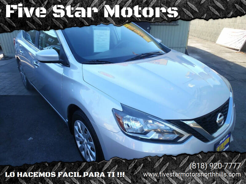 2016 Nissan Sentra for sale at Five Star Motors in North Hills CA