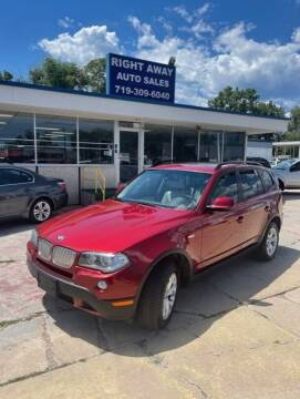 2010 BMW X3 for sale at Right Away Auto Sales in Colorado Springs CO