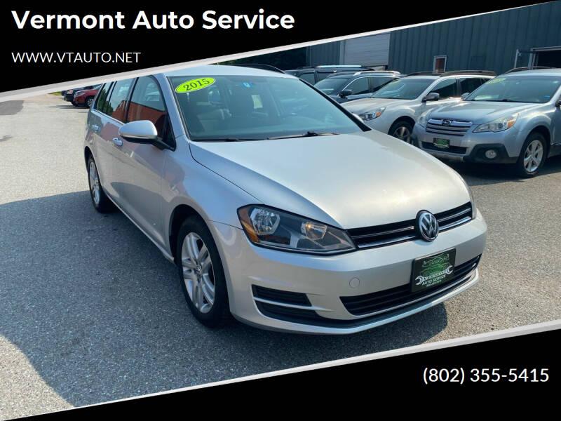 2015 Volkswagen Golf SportWagen for sale at Vermont Auto Service in South Burlington VT