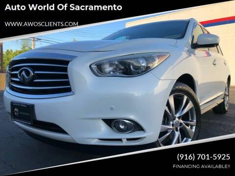 2013 Infiniti JX35 for sale at Auto World of Sacramento Stockton Blvd in Sacramento CA