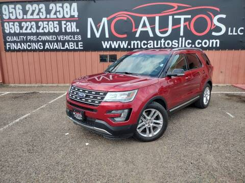 2016 Ford Explorer for sale at MC Autos LLC in Pharr TX