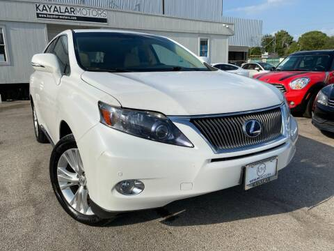 2011 Lexus RX 450h for sale at KAYALAR MOTORS in Houston TX