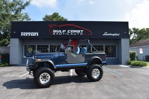 1982 Jeep CJ-7 for sale at Gulf Coast Exotic Auto in Biloxi MS