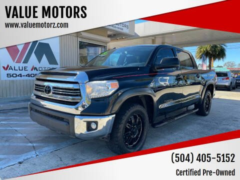 2016 Toyota Tundra for sale at VALUE MOTORS in Kenner LA