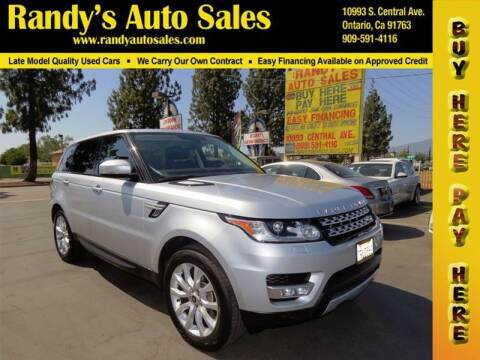 2014 Land Rover Range Rover Sport for sale at Randy's Auto Sales in Ontario CA