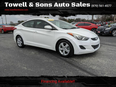 2013 Hyundai Elantra for sale at Towell & Sons Auto Sales in Manila AR
