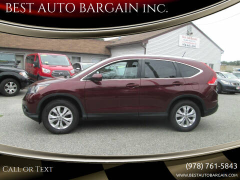 2013 Honda CR-V for sale at BEST AUTO BARGAIN inc. in Lowell MA