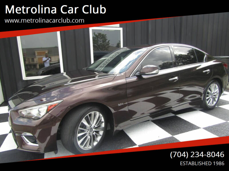 2018 Infiniti Q50 for sale at Metrolina Car Club in Matthews NC