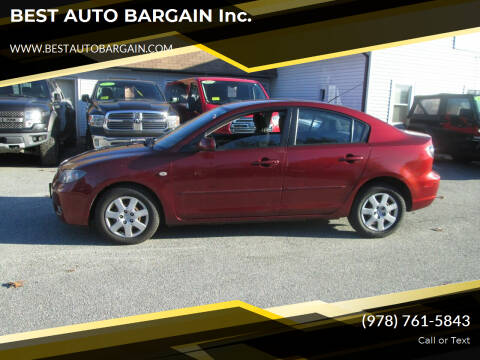 2008 Mazda MAZDA3 for sale at BEST AUTO BARGAIN inc. in Lowell MA