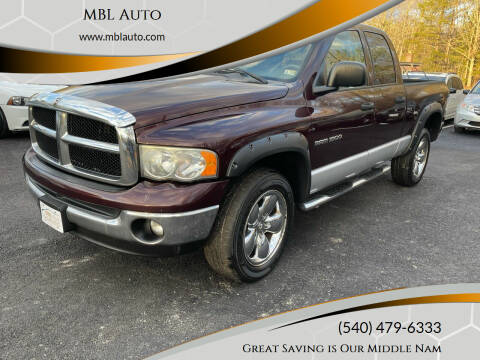 2005 Dodge Ram Pickup 1500 for sale at MBL Auto in Fredericksburg VA