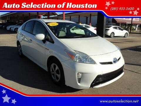 2012 Toyota Prius for sale at Auto Selection of Houston in Houston TX