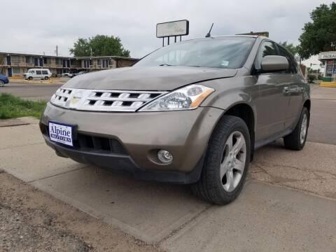 2004 Nissan Murano for sale at Alpine Motors LLC in Laramie WY