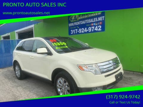 2008 Ford Edge for sale at PRONTO AUTO SALES INC in Indianapolis IN
