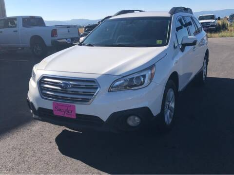 2017 Subaru Outback for sale at Snyder Motors Inc in Bozeman MT