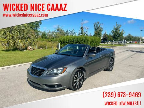 2013 Chrysler 200 Convertible for sale at WICKED NICE CAAAZ in Cape Coral FL