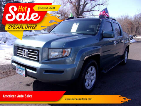 2006 Honda Ridgeline for sale at American Auto Sales in Forest Lake MN
