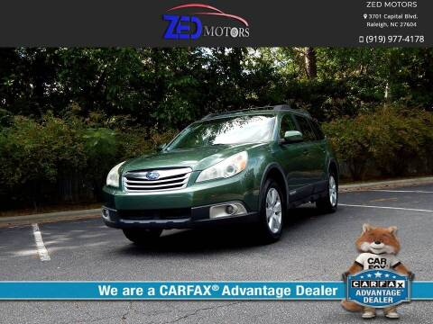 2011 Subaru Outback for sale at Zed Motors in Raleigh NC