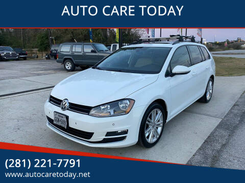 2015 Volkswagen Golf SportWagen for sale at AUTO CARE TODAY in Spring TX