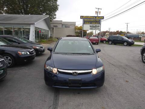 2008 Honda Civic for sale at Lakeshore Auto Wholesalers in Amherst OH