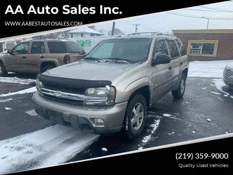 2002 Chevrolet TrailBlazer for sale at AA Auto Sales Inc. in Gary IN