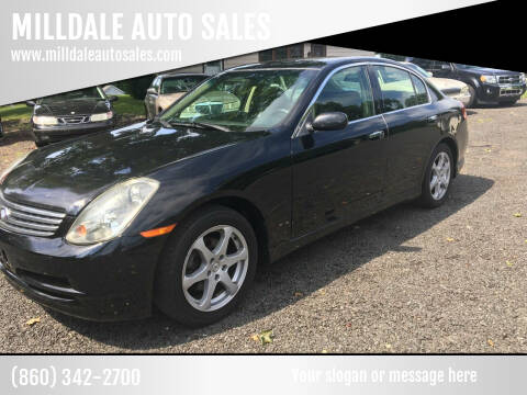 2004 Infiniti G35 for sale at MILLDALE AUTO SALES in Portland CT