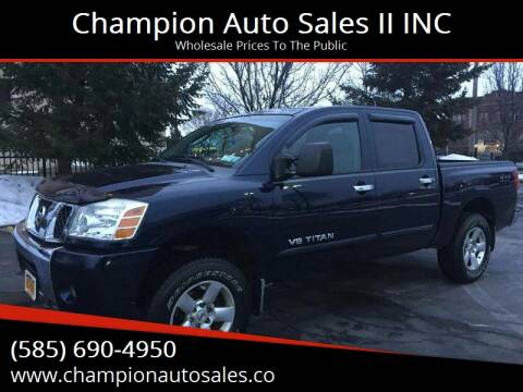 2006 Nissan Titan for sale at Champion Auto Sales II INC in Rochester NY