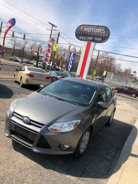 2012 Ford Focus for sale at i3Motors in Baltimore MD