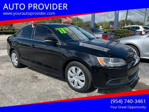 2013 Volkswagen Jetta for sale at AUTO PROVIDER in Fort Lauderdale FL