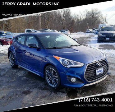 2016 Hyundai Veloster for sale at JERRY GRADL MOTORS INC in North Tonawanda NY