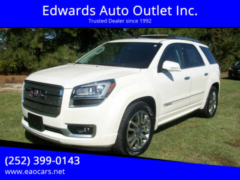 2013 GMC Acadia for sale at Edwards Auto Outlet Inc. in Wilson NC