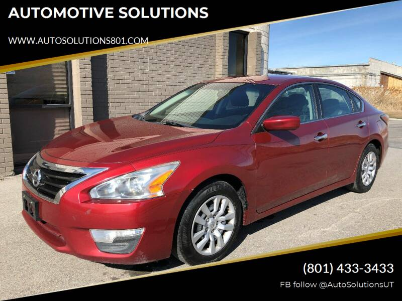 2015 Nissan Altima for sale at AUTOMOTIVE SOLUTIONS in Salt Lake City UT