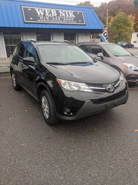 2015 Toyota RAV4 for sale at WEB NIK Motors in Fitchburg MA