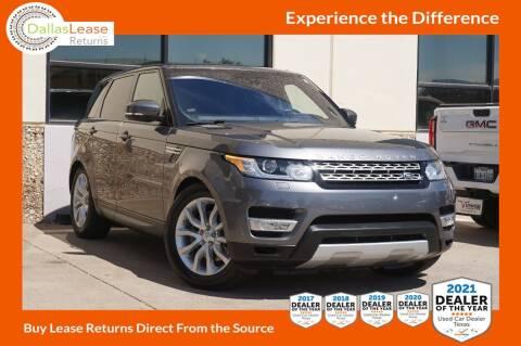 2016 Land Rover Range Rover Sport for sale at Dallas Auto Finance in Dallas TX