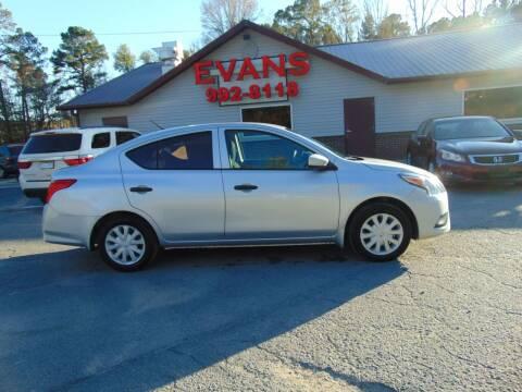 2016 Nissan Versa for sale at Evans Motors Inc in Little Rock AR