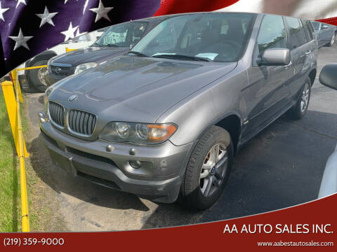 2005 BMW X5 for sale at AA Auto Sales Inc. in Gary IN