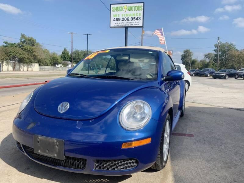 2008 Volkswagen New Beetle Convertible for sale at Shock Motors in Garland TX
