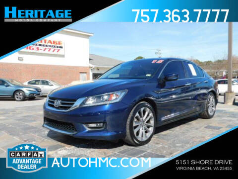 2015 Honda Accord for sale at Heritage Motor Company in Virginia Beach VA