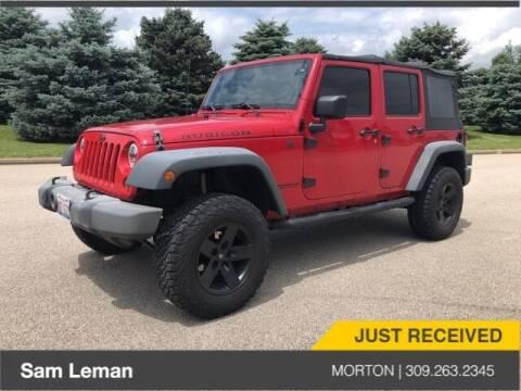 2009 Jeep Wrangler Unlimited for sale at Sam Leman CDJRF Morton in Morton IL