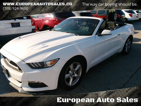 2016 Ford Mustang for sale at European Auto Sales in Bridgeview IL