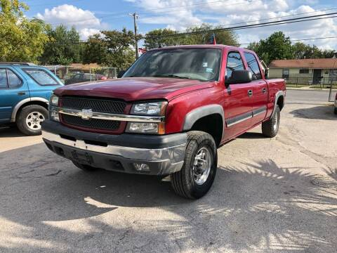 2004 Chevrolet Silverado 2500 for sale at Approved Auto Sales in San Antonio TX