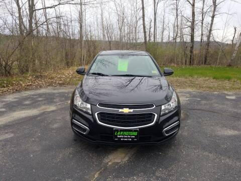 2015 Chevrolet Cruze for sale at L & R Motors in Greene ME