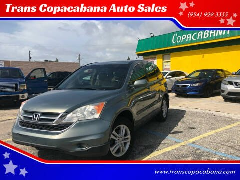 2011 Honda CR-V for sale at Trans Copacabana Auto Sales in Hollywood FL