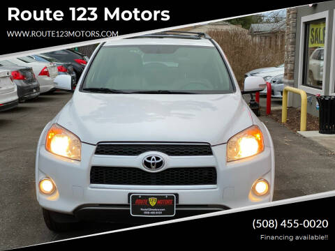 2012 Toyota RAV4 for sale at Route 123 Motors in Norton MA