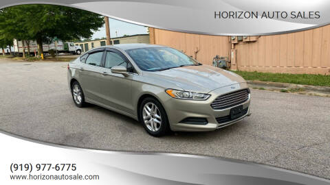 2015 Ford Fusion for sale at Horizon Auto Sales in Raleigh NC