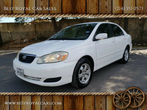 2005 Toyota Corolla for sale at Best Royal Car Sales in Dallas TX