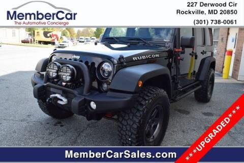 2014 Jeep Wrangler Unlimited for sale at MemberCar in Rockville MD