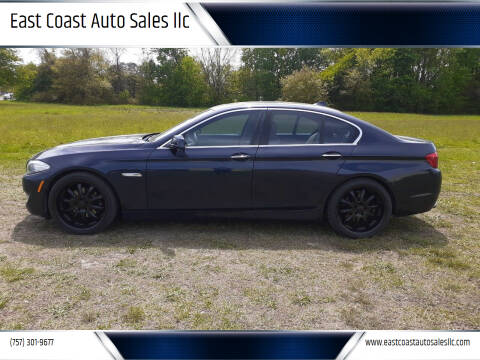 2011 BMW 5 Series for sale at East Coast Auto Sales llc in Virginia Beach VA