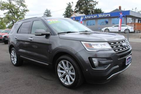 2016 Ford Explorer for sale at All American Motors in Tacoma WA